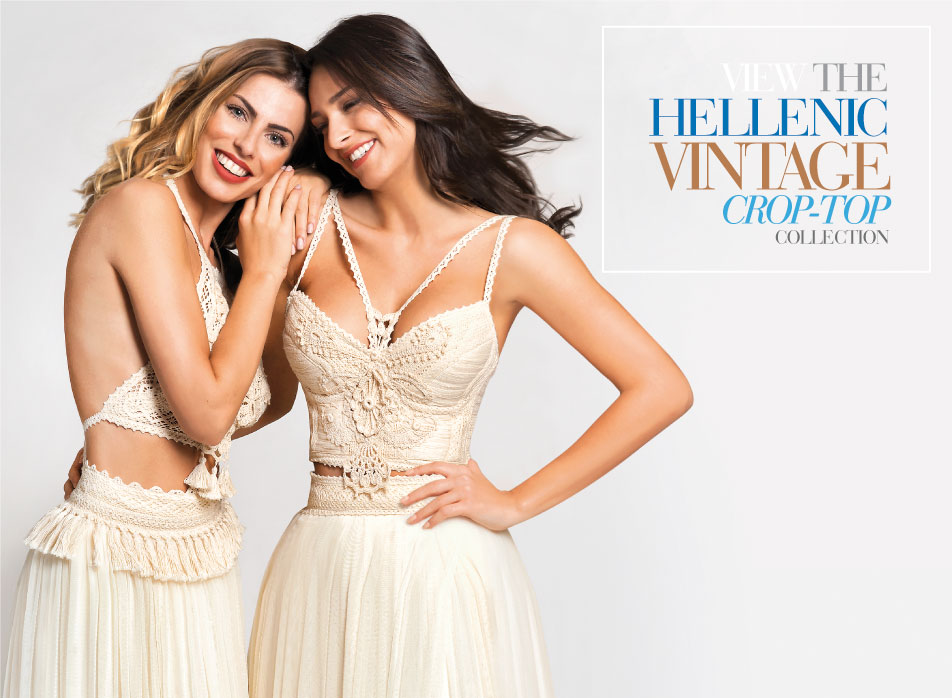 Hellenic Vintage Crop Top collection