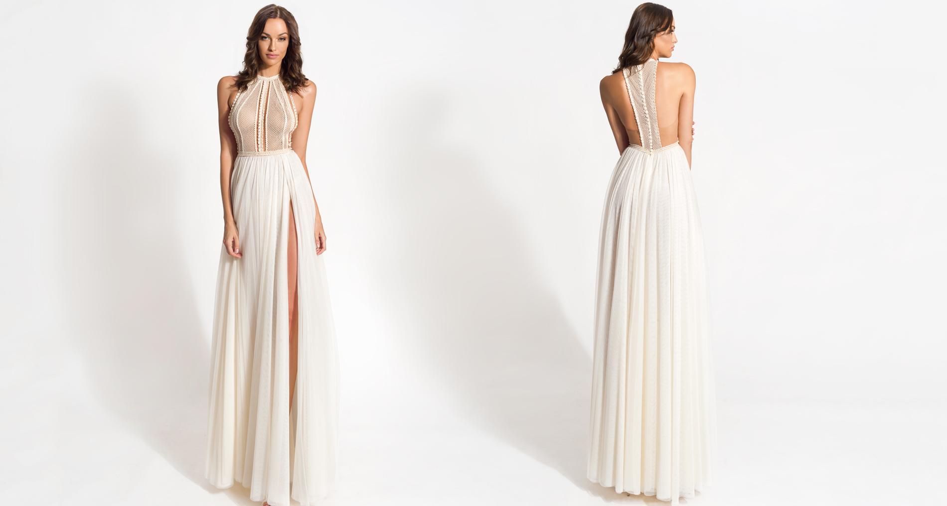 Achillea wedding dress from  Hellenic Vintage Origin Collection