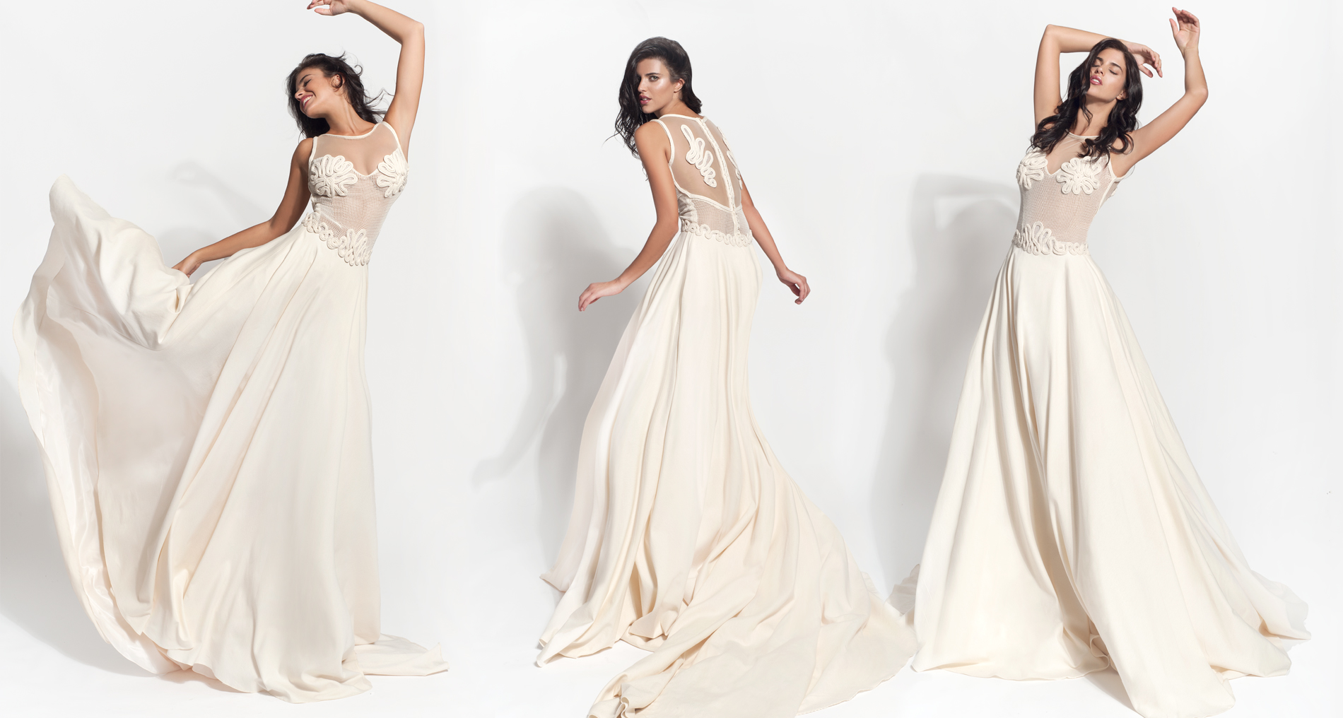 Adeia wedding dress from  Hellenic Vintage Core Collection