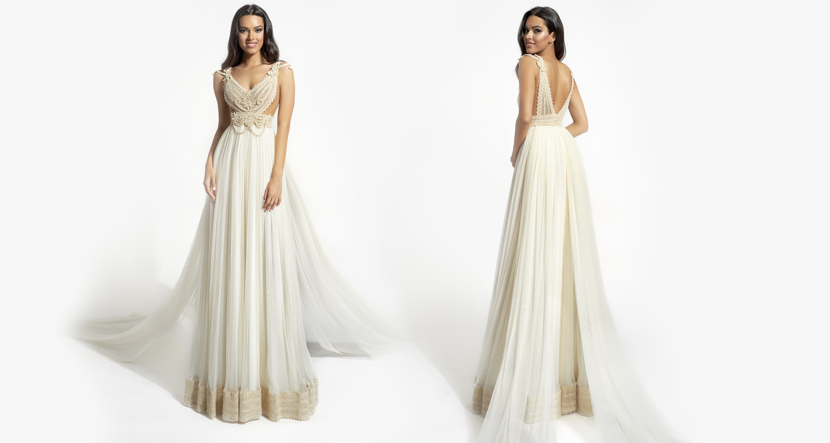 Aegle Opulence wedding dress from  Hellenic Vintage Opulence Collection