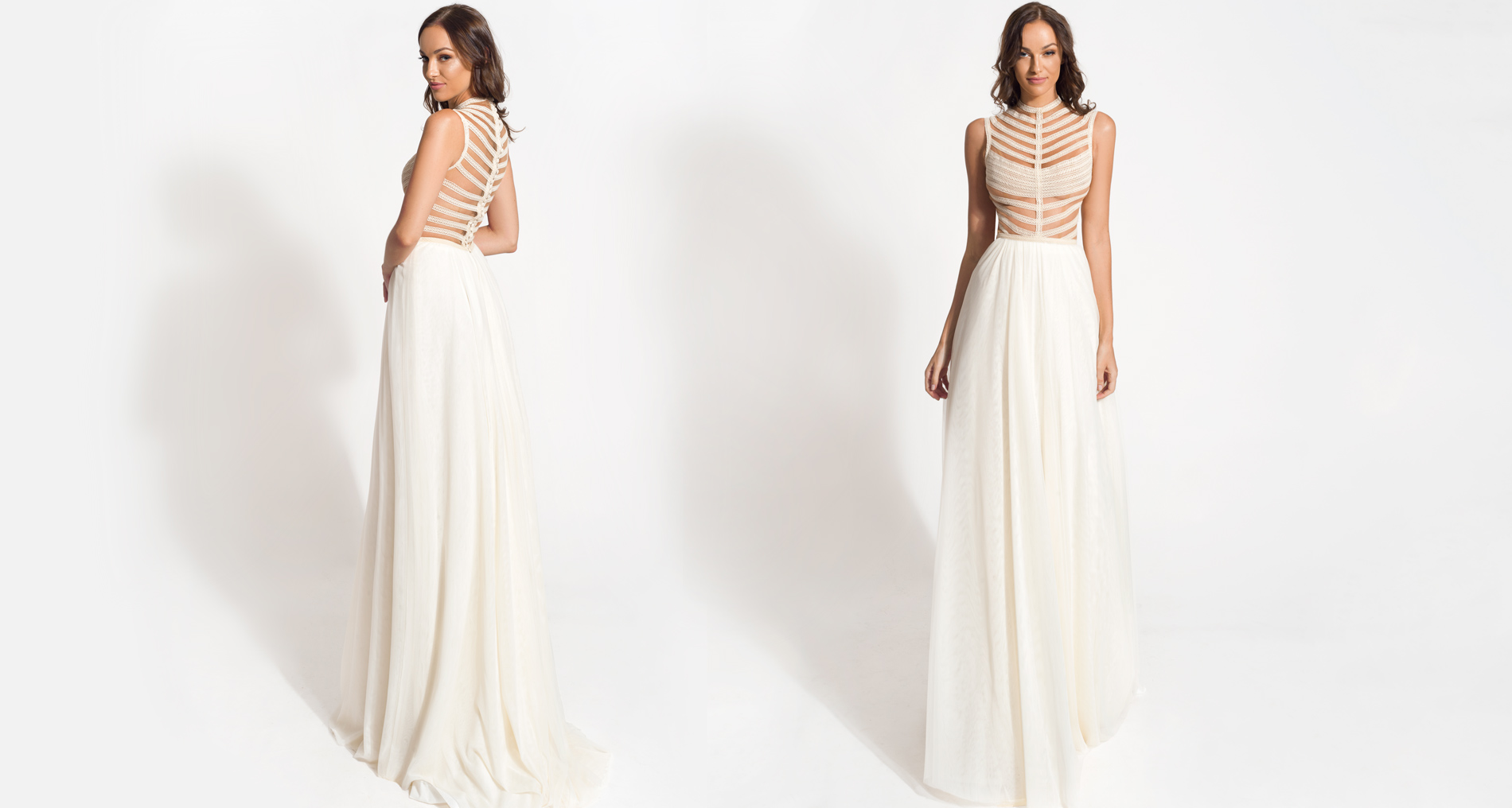 Aerea wedding dress from  Hellenic Vintage Origin Collection