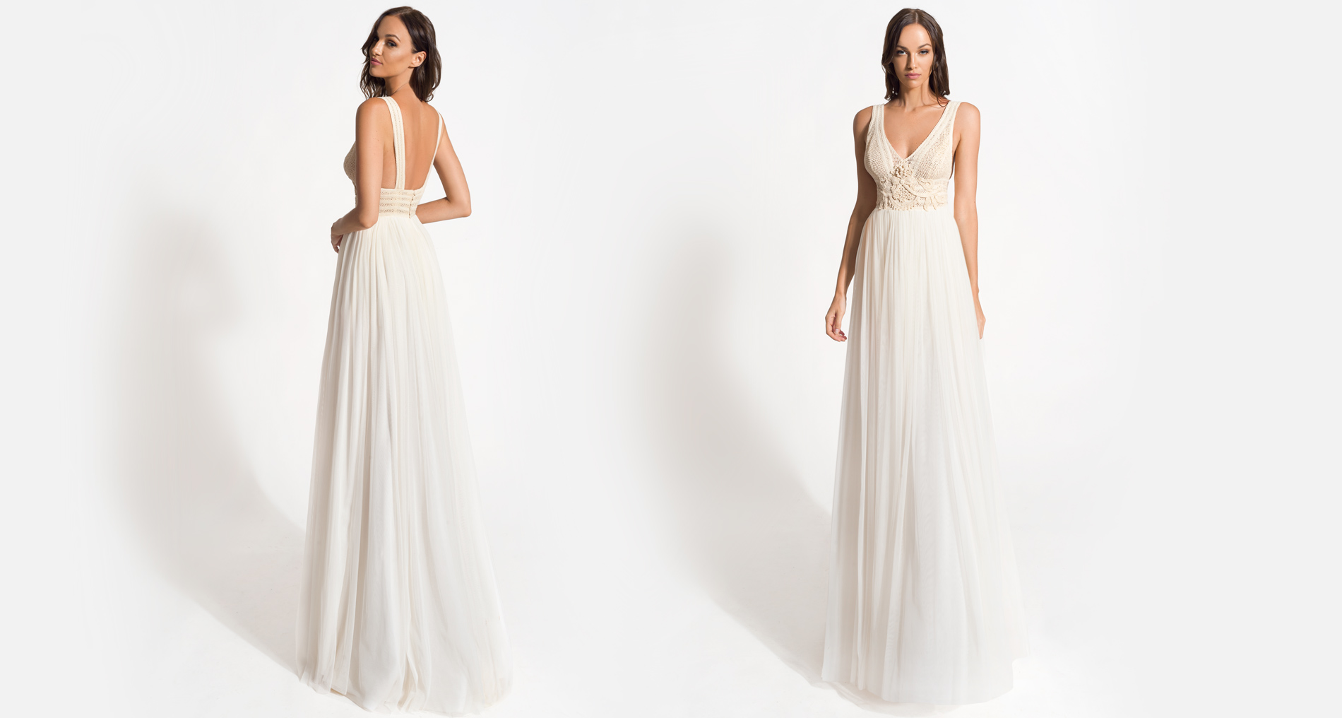 Alkistis wedding dress from  Hellenic Vintage Origin Collection