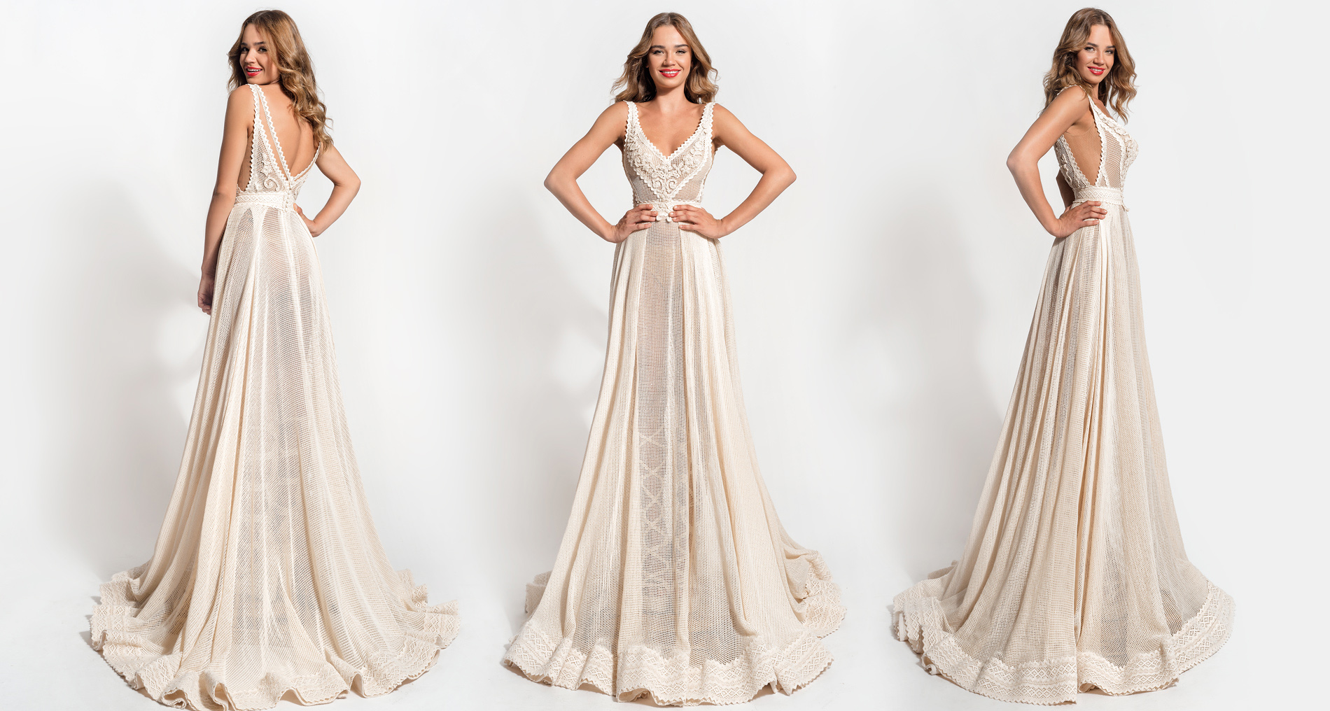 Amalthea wedding dress from  Hellenic Vintage Essence Collection