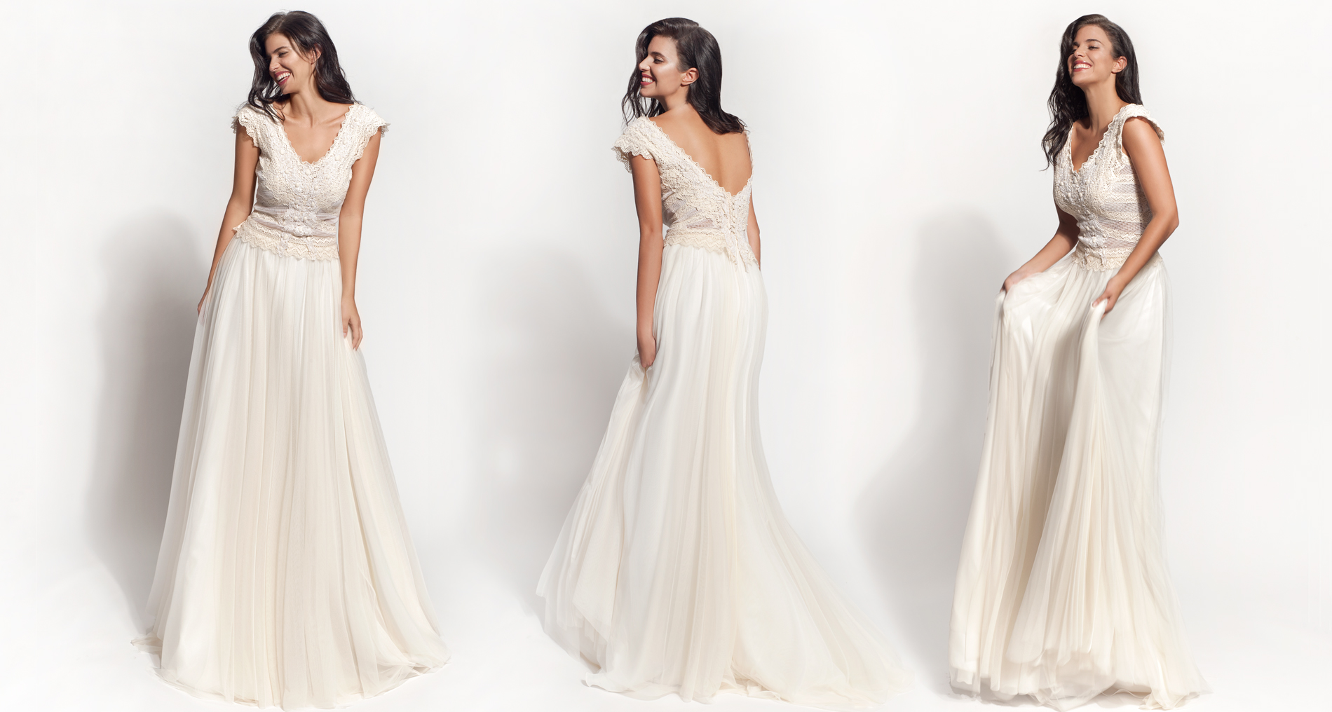 Andromeda wedding dress from  Hellenic Vintage Core Collection