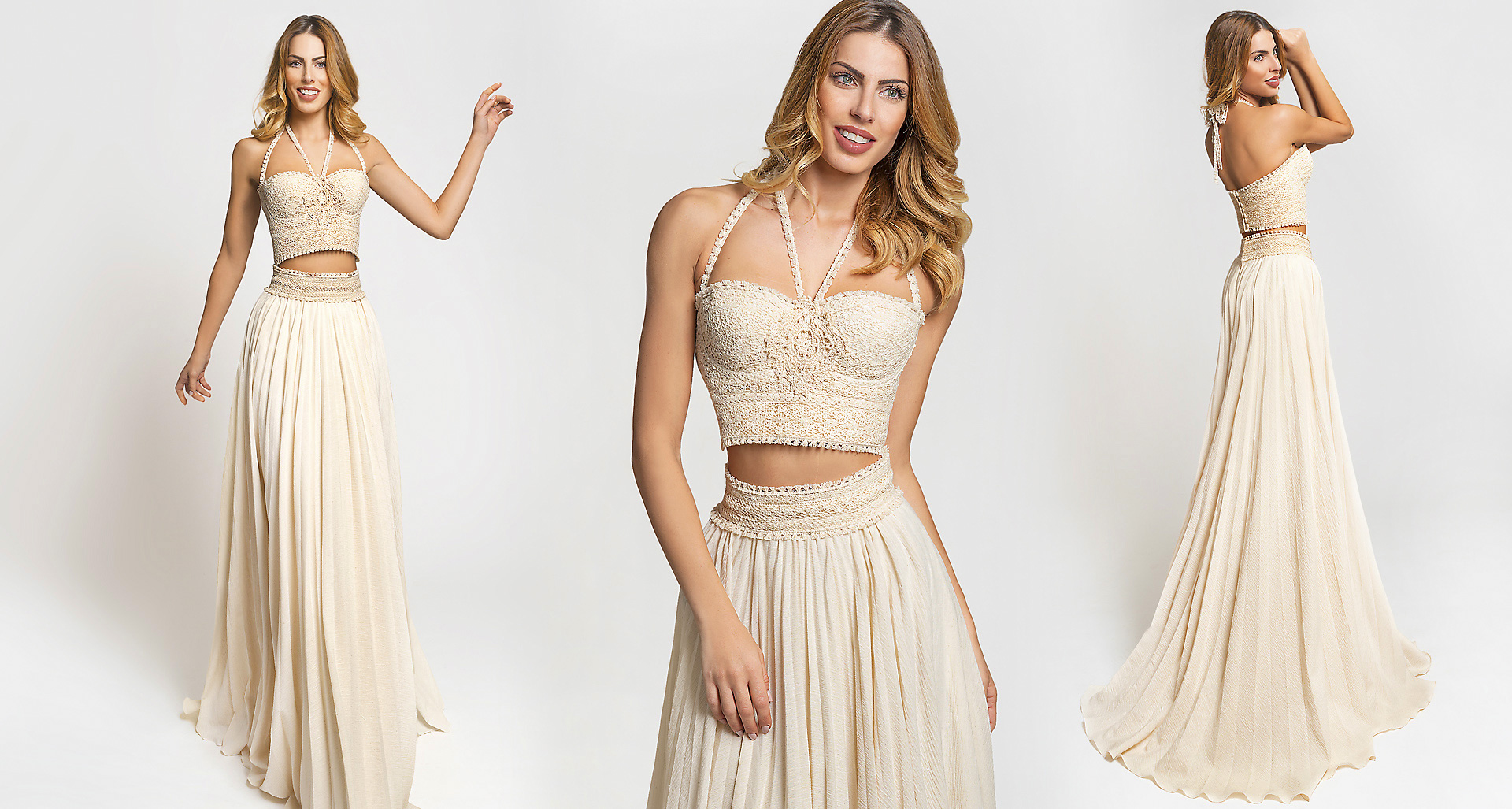Anemone wedding dress from  Hellenic Vintage Crop Top Collection