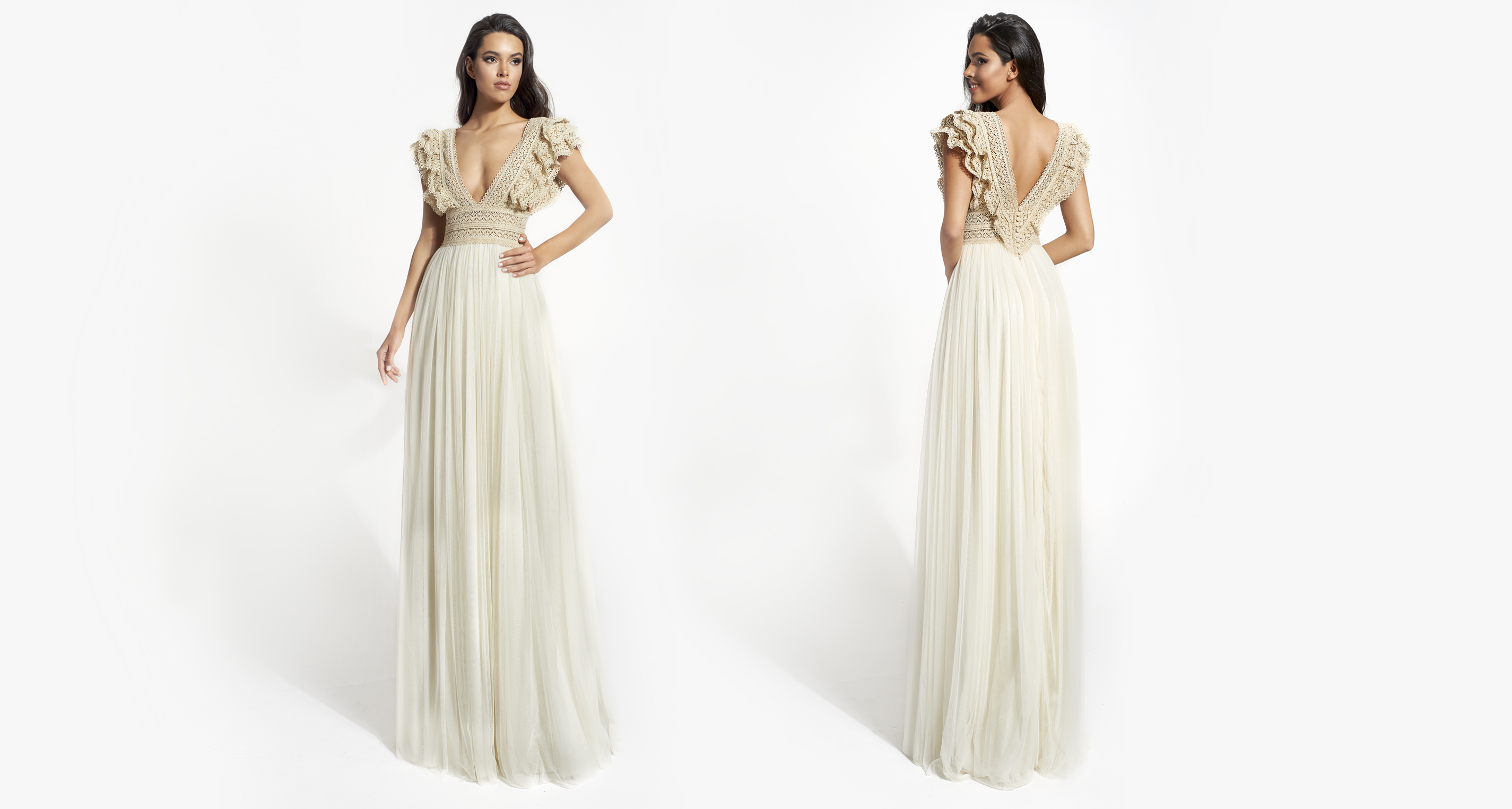 Angie wedding dress from  Hellenic Vintage Opulence Collection
