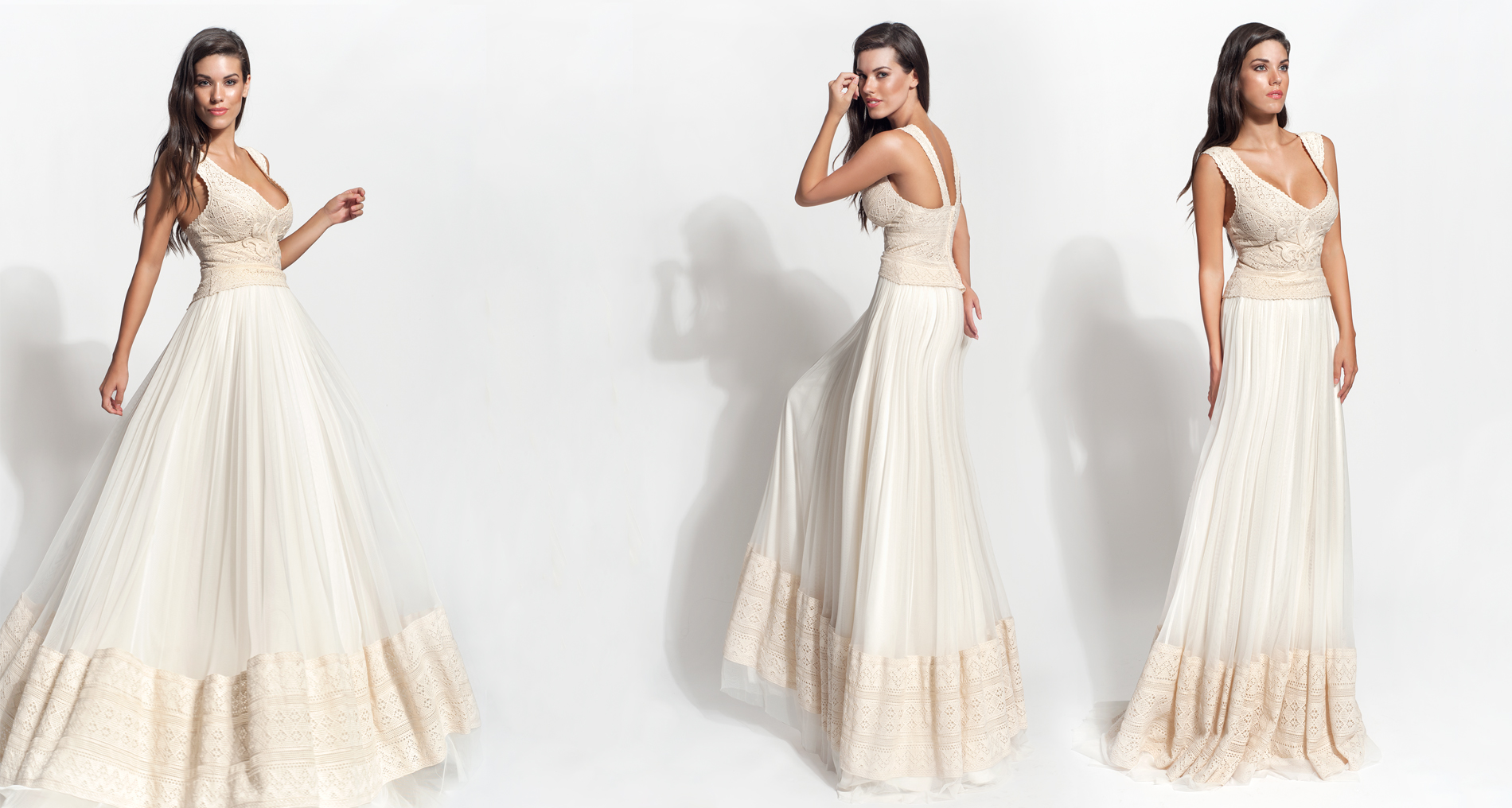Aslia wedding dress from  Hellenic Vintage Core Collection