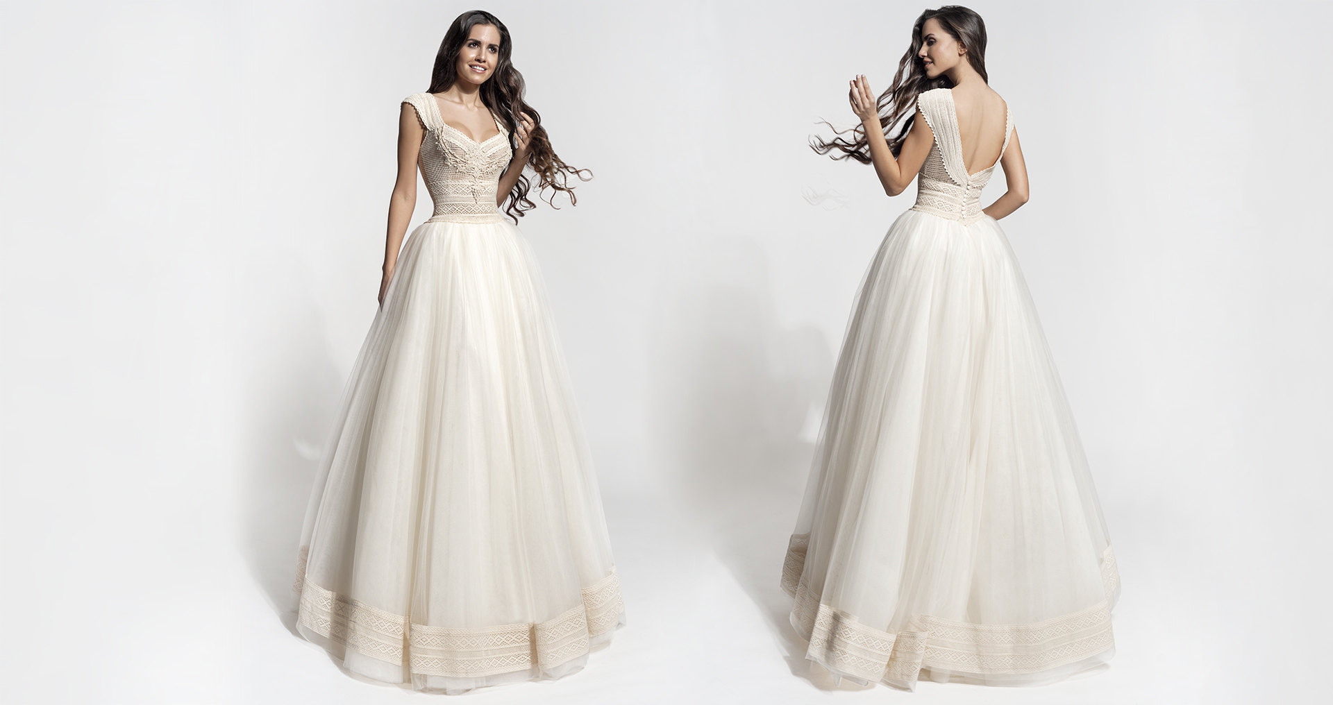 Carme wedding dress from  Hellenic Vintage Core Collection