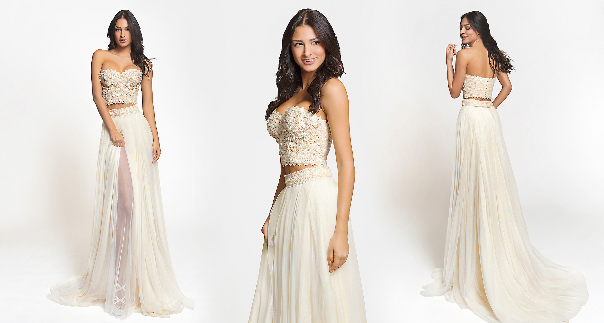 Delis wedding dress from  Hellenic Vintage Crop Top Collection