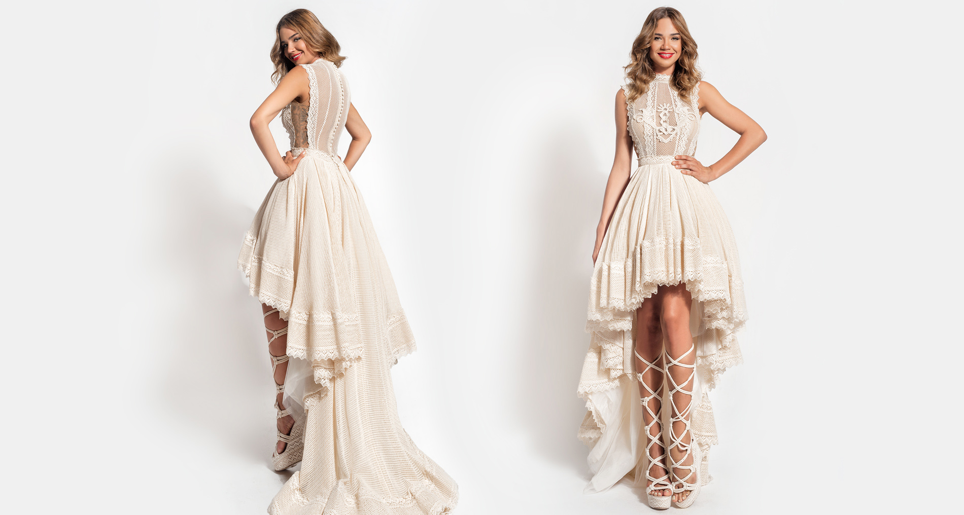 Demeter wedding dress from  Hellenic Vintage Essence Collection