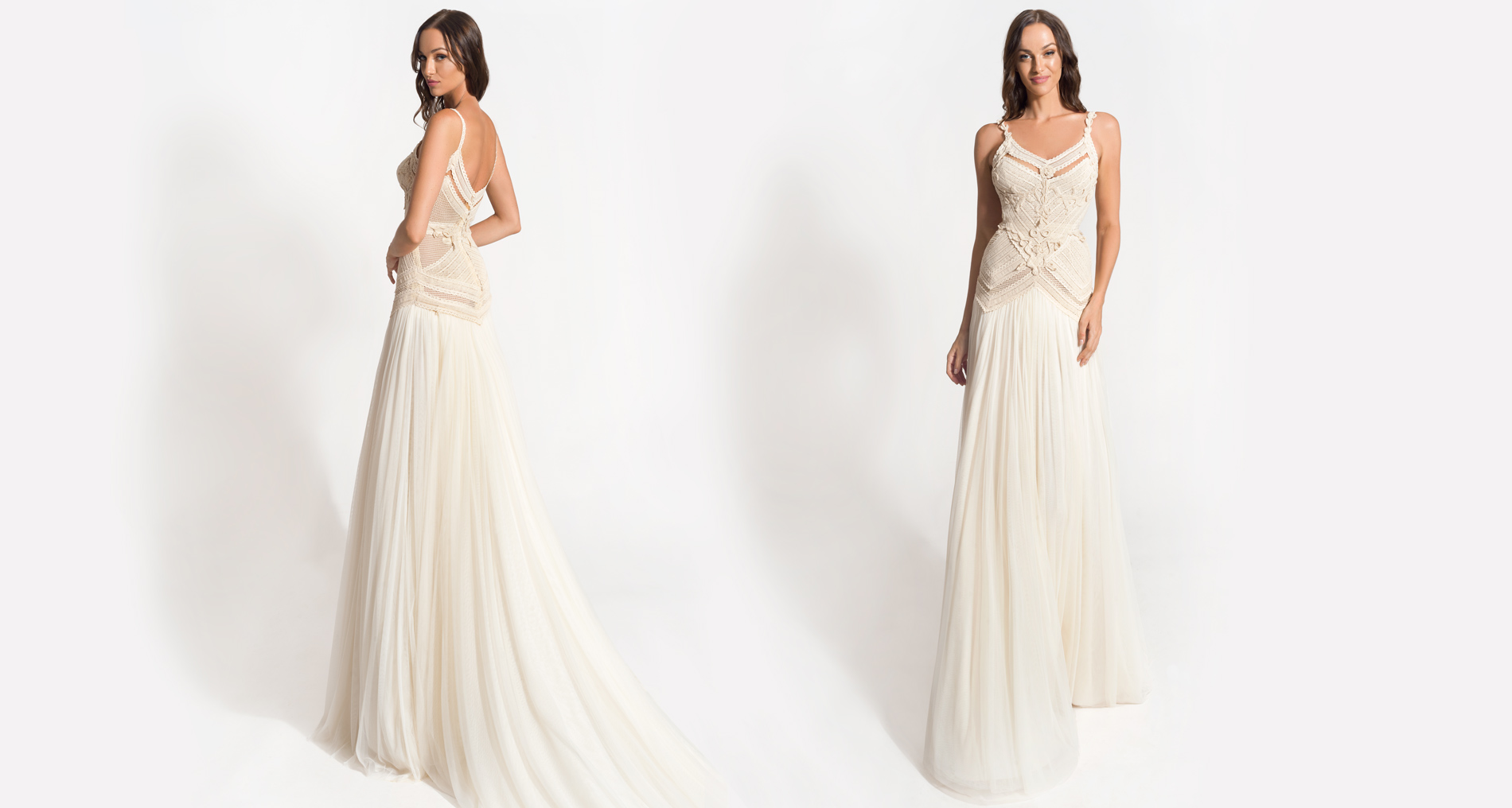 Echo wedding dress from  Hellenic Vintage Origin Collection