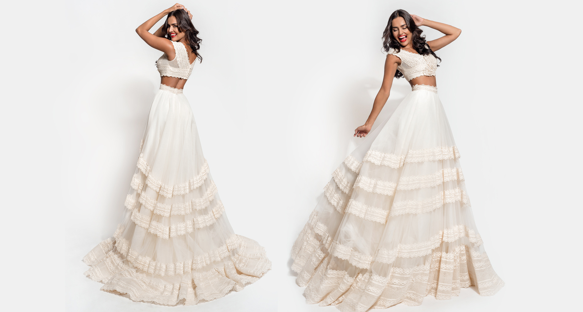 Elpis Top & Elpis Trims Skirt wedding dress from  Hellenic Vintage Essence Collection