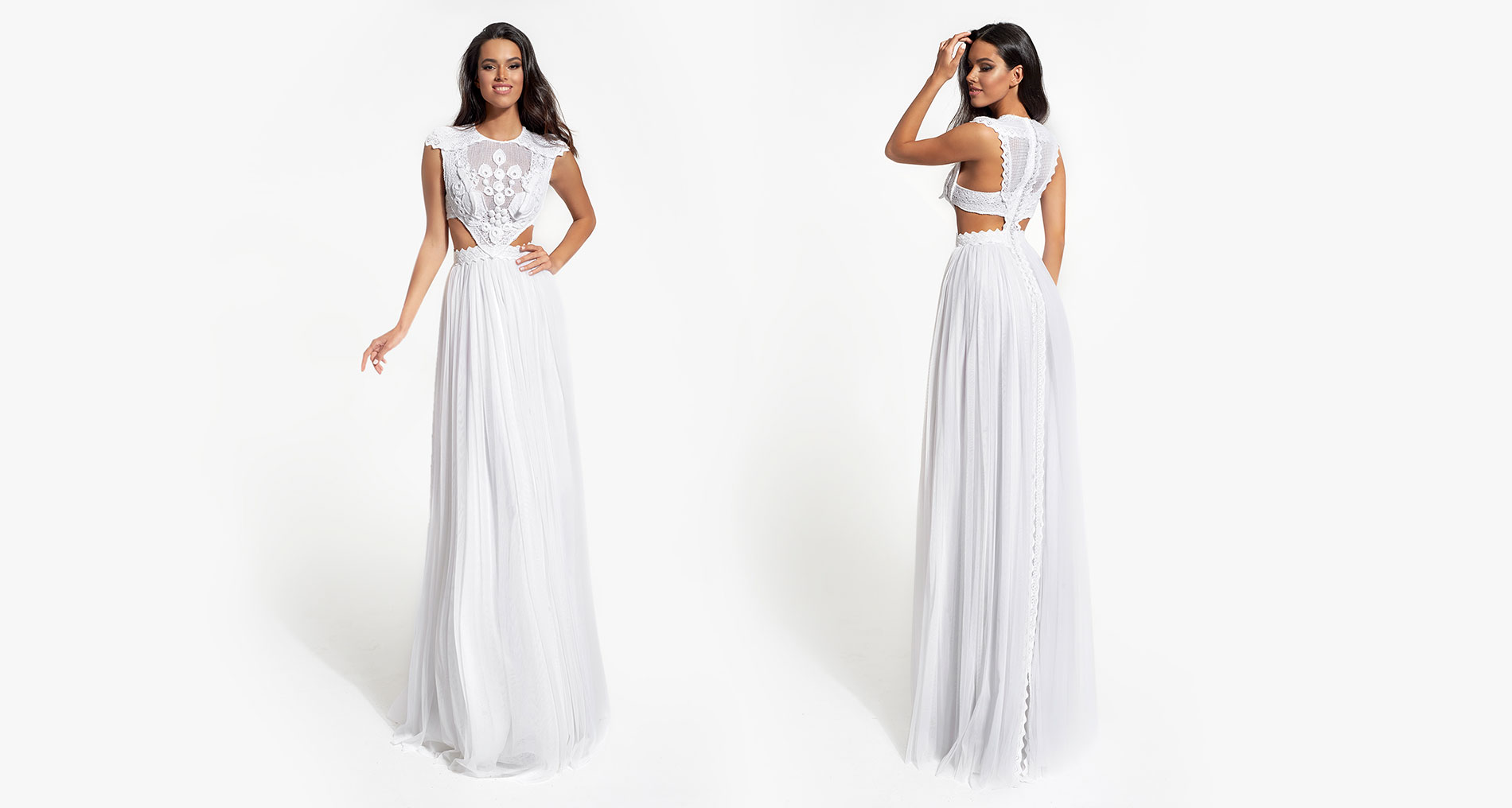 Galatea wedding dress from  Hellenic Vintage White Collection