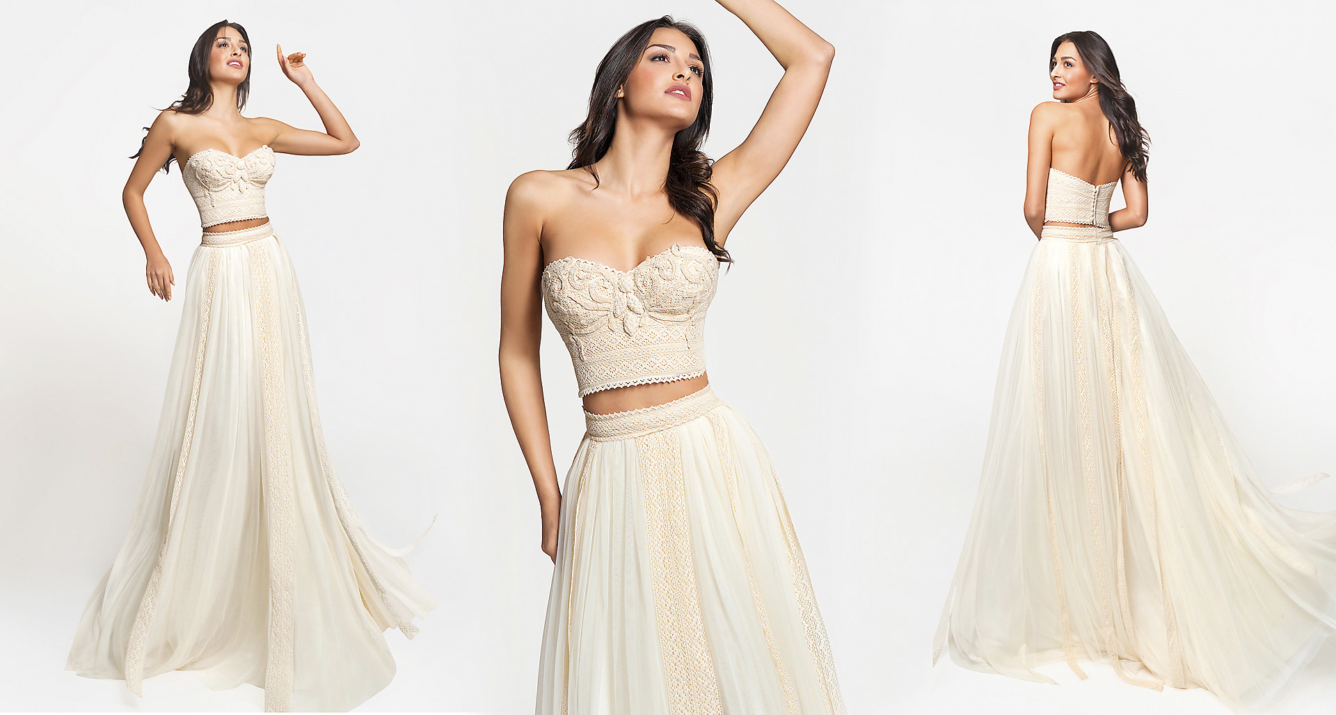 Hermia wedding dress from  Hellenic Vintage Crop Top Collection