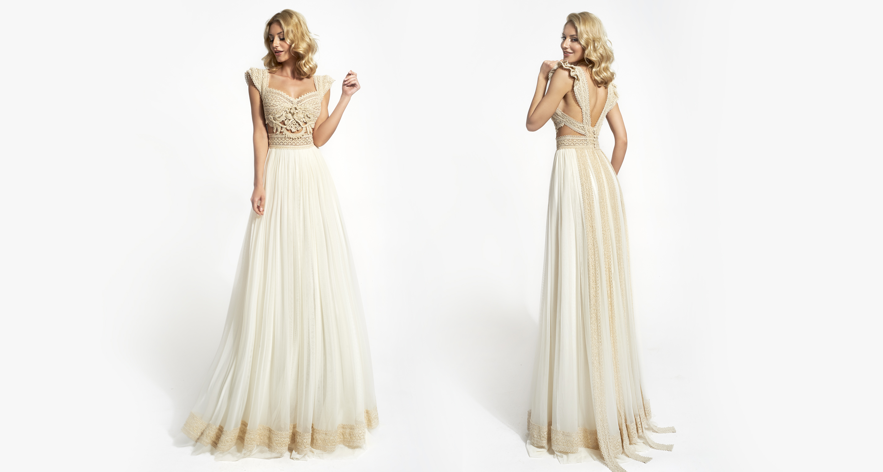Ijunia Opulence wedding dress from  Hellenic Vintage Opulence Collection
