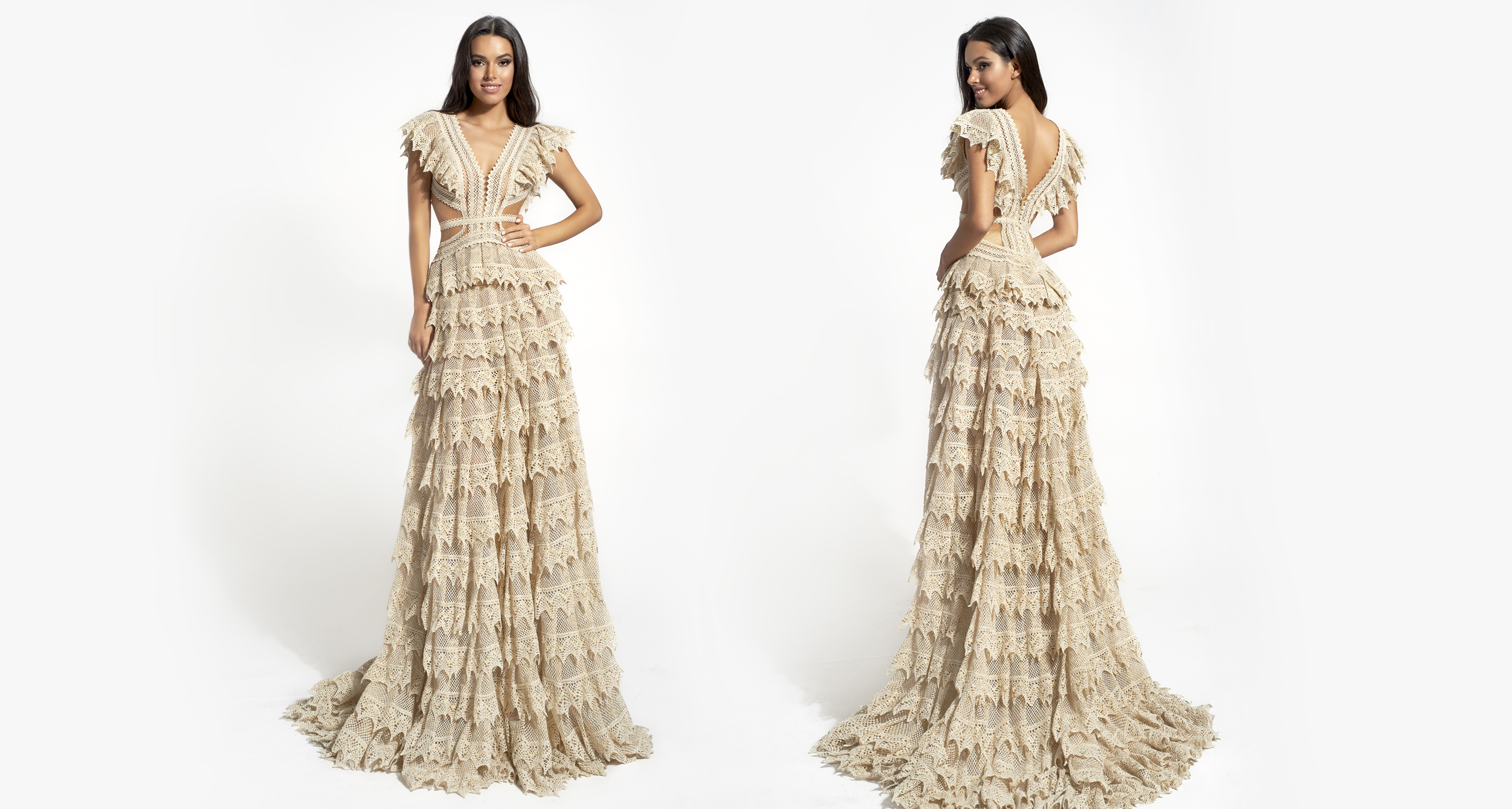 Kassia wedding dress from  Hellenic Vintage Opulence Collection