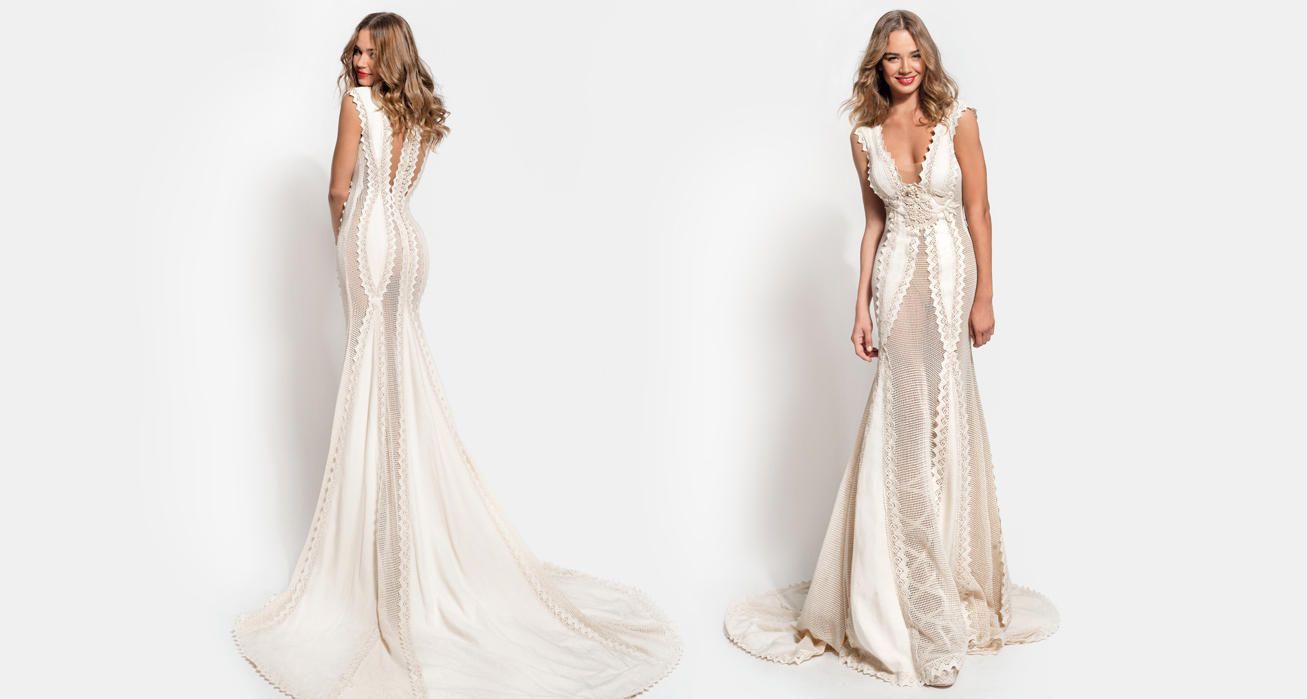 Leia wedding dress from  Hellenic Vintage Essence Collection