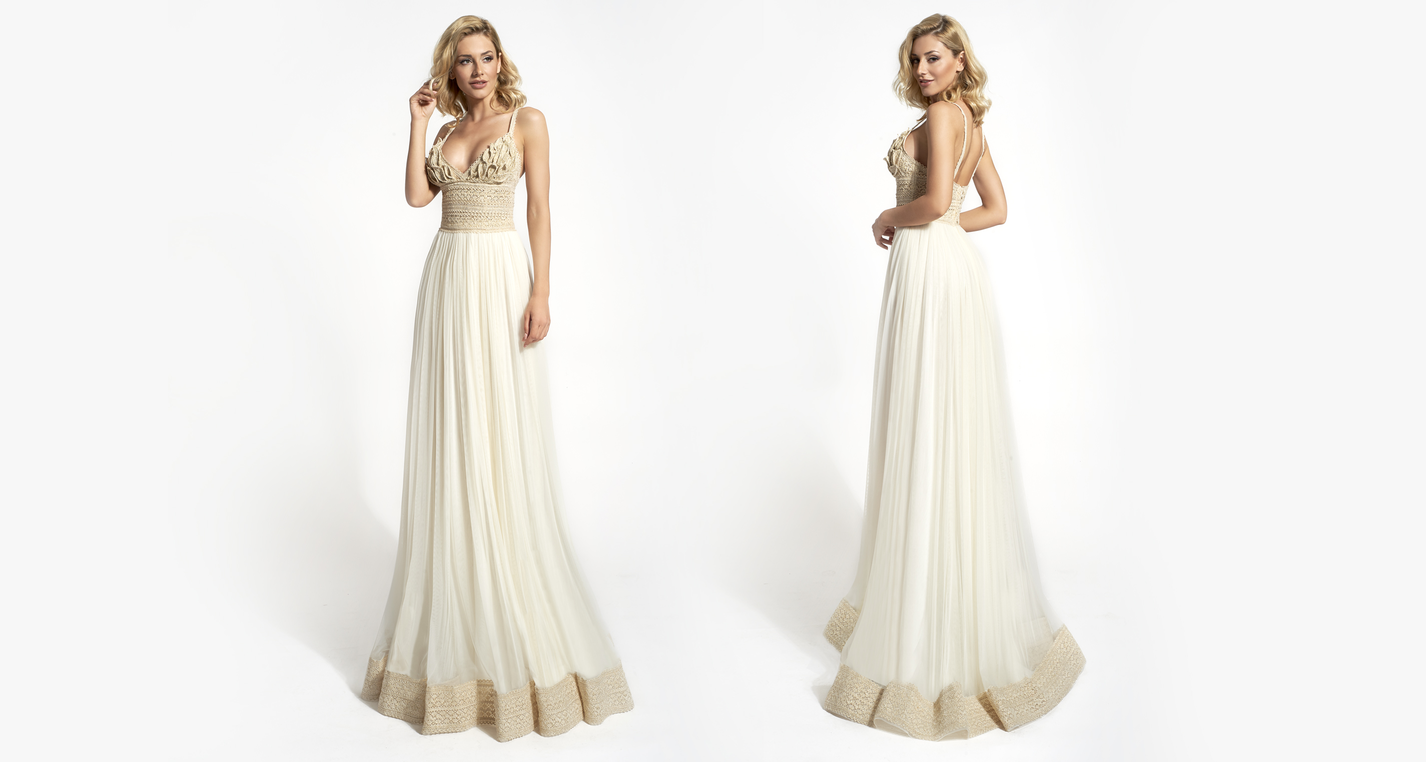 Maddo wedding dress from  Hellenic Vintage Opulence Collection