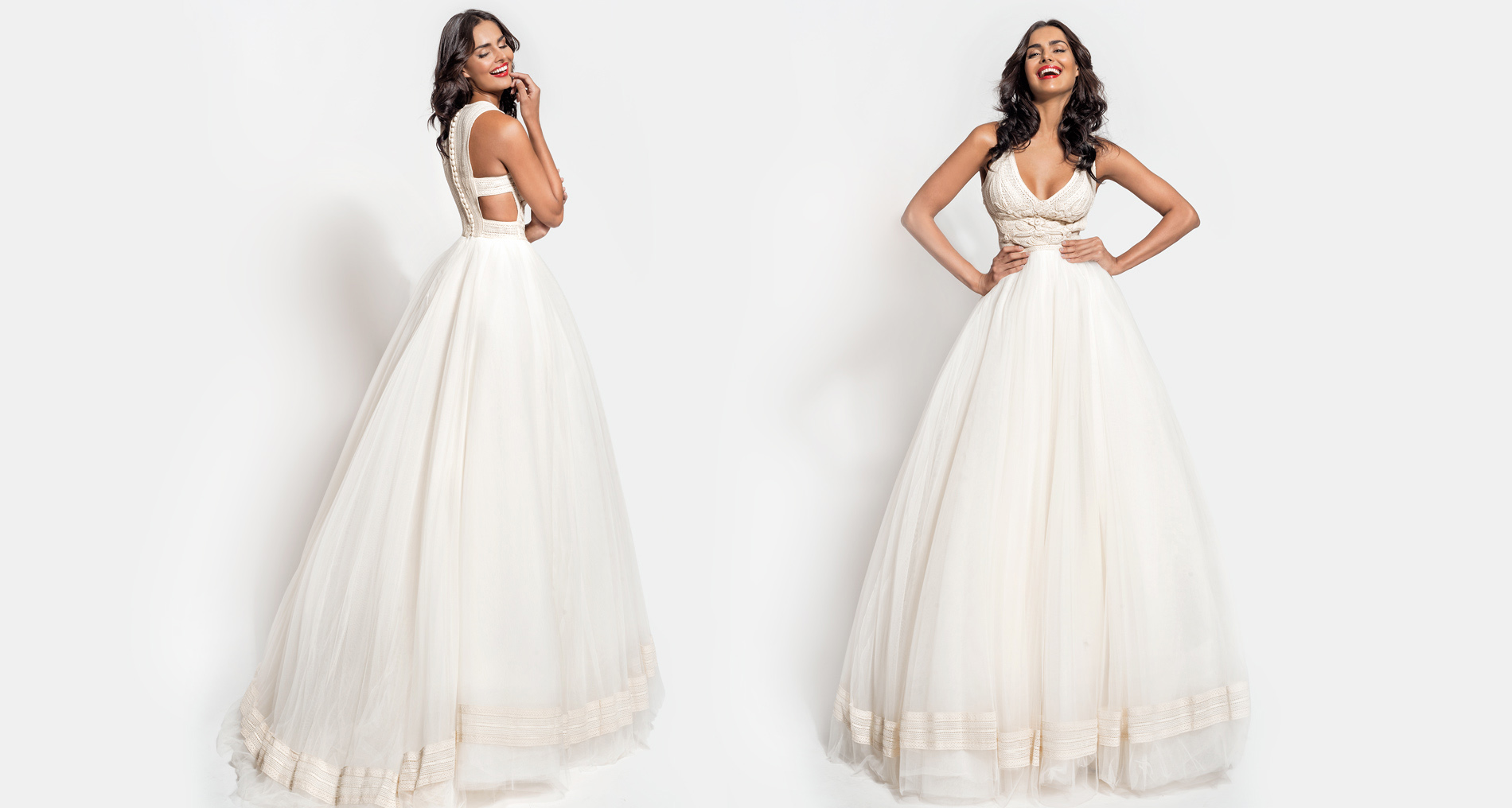 Maera wedding dress from  Hellenic Vintage Essence Collection