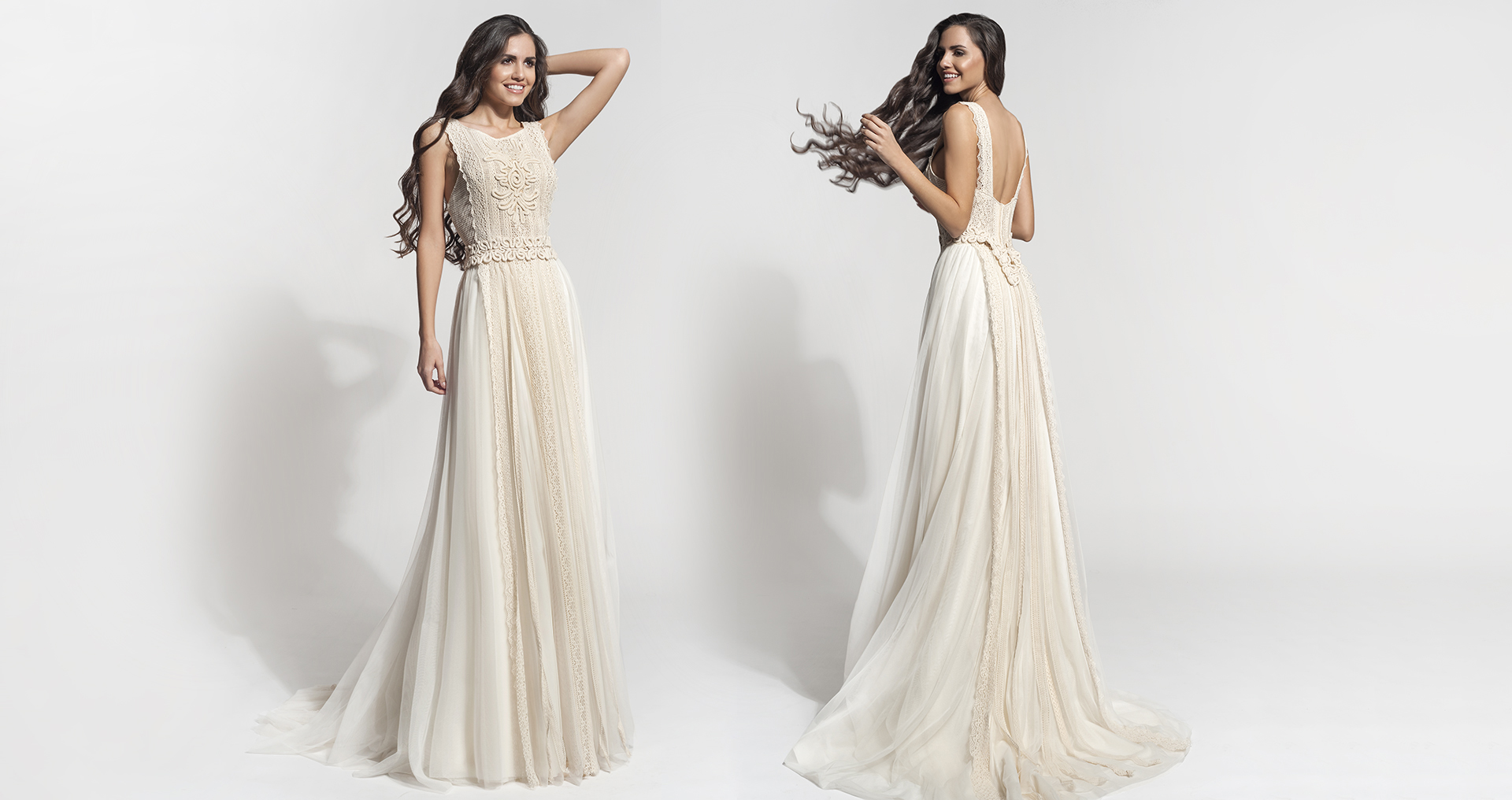 Rhea wedding dress from  Hellenic Vintage Core Collection