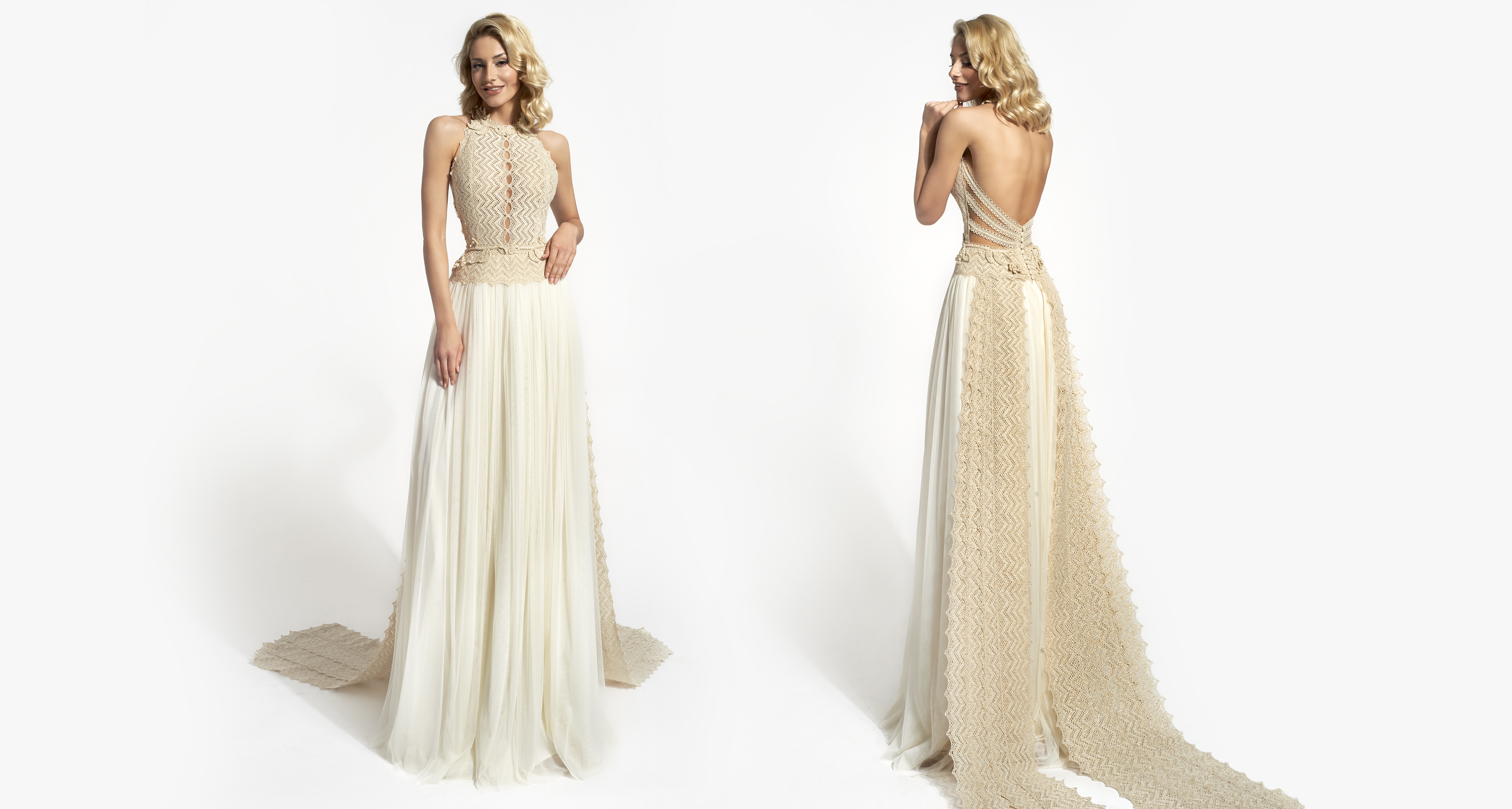 Thekla wedding dress from  Hellenic Vintage Opulence Collection