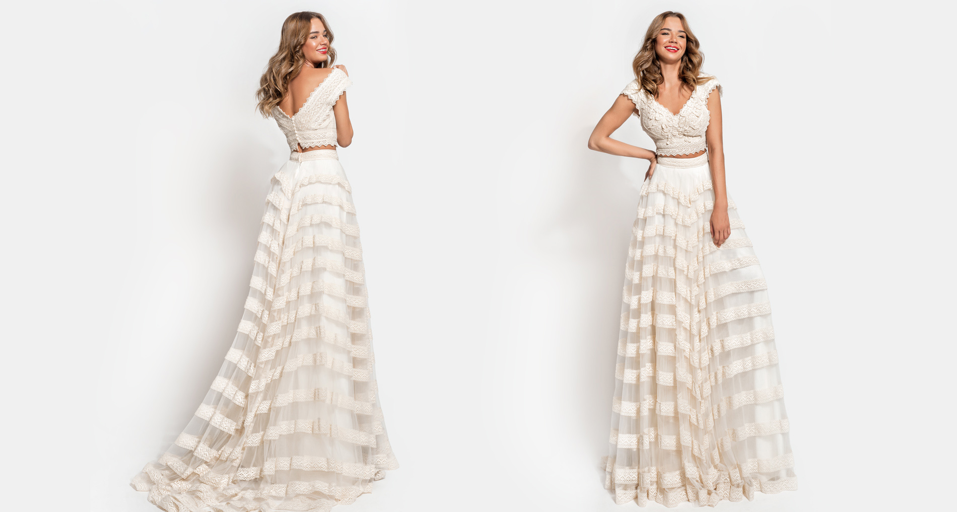 Theoni Top & Dareia Skirt wedding dress from  Hellenic Vintage Essence Collection