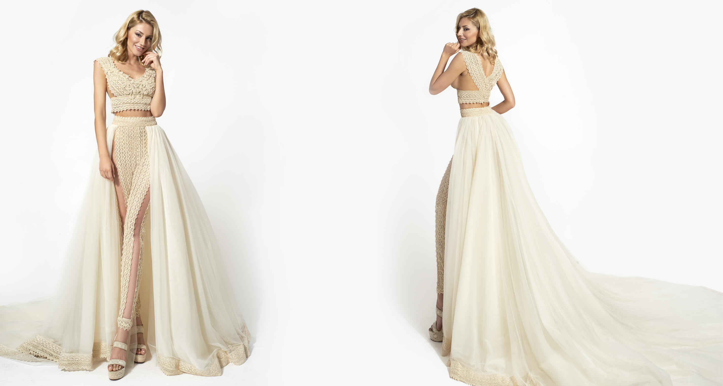 Theoni & Pantalone Opulance wedding dress from  Hellenic Vintage Opulence Collection