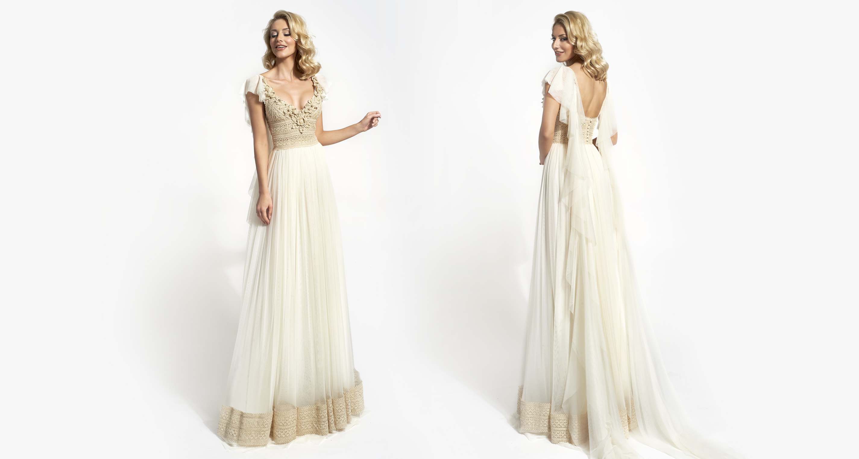 Xeni wedding dress from  Hellenic Vintage Opulence Collection